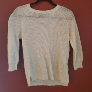 Old Navy White elbow length sweater